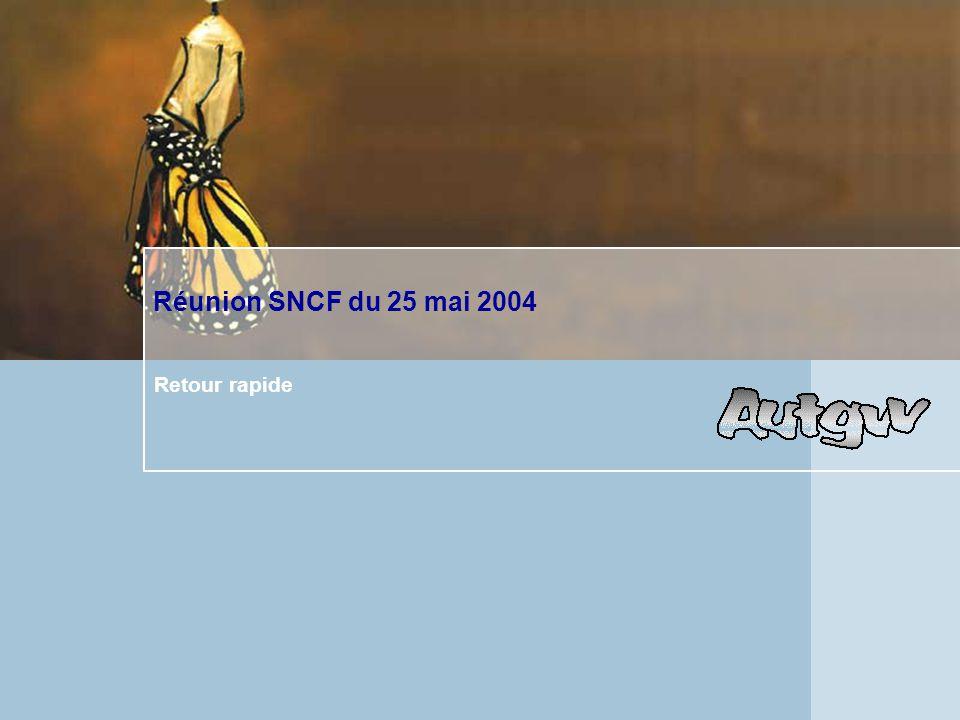 Réunion SNCF du 25 mai 2004 Retour rapide