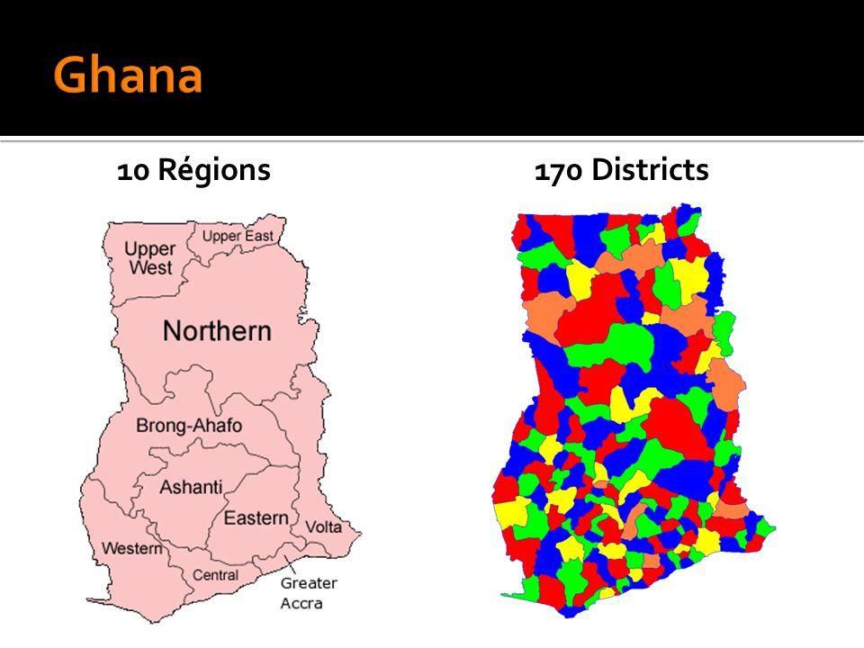 10 Régions170 Districts