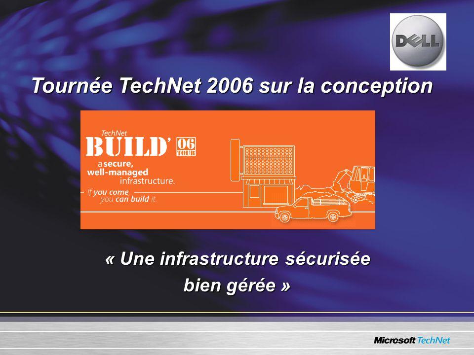 Tournée TechNet 2006 sur la conception « Une infrastructure sécurisée bien gérée »