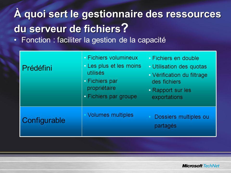 À quoi sert le gestionnaire des ressources du serveur de fichiers À quoi sert le gestionnaire des ressources du serveur de fichiers .