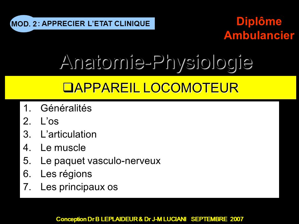 MOD. 2 BLP-JML - CFTS - v 7.9 22  Muscles profonds  Muscles peauciers  Myologie