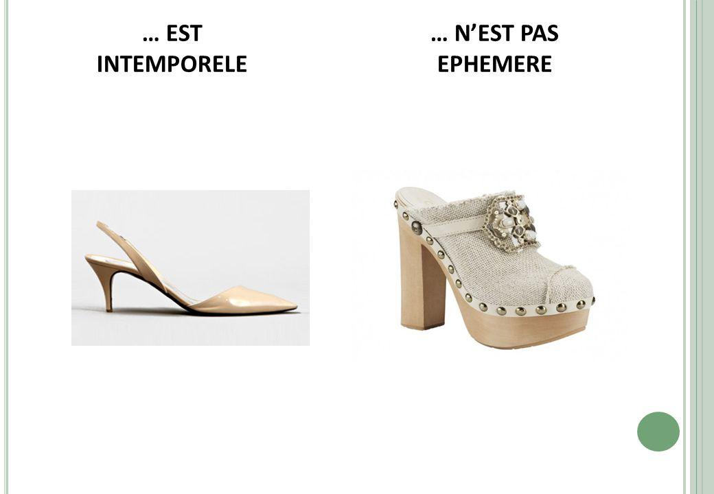 … EST INTEMPORELE … N'EST PAS EPHEMERE