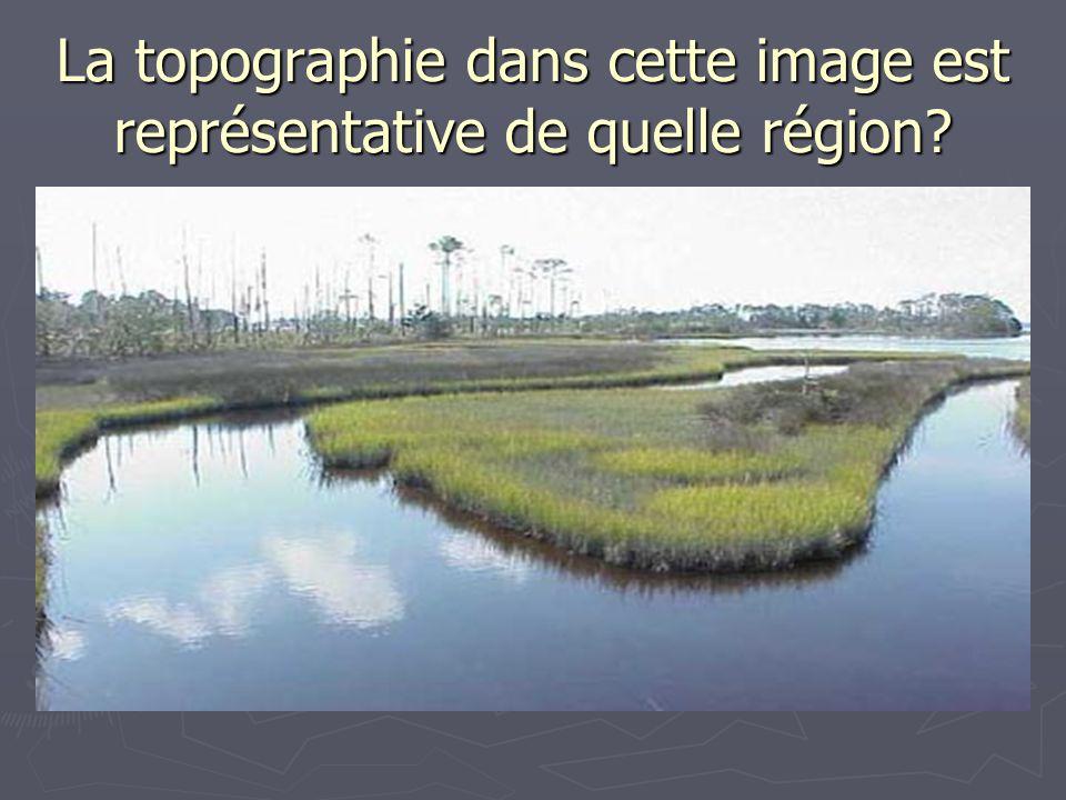 La topographie dans cette image est représentative de quelle région?