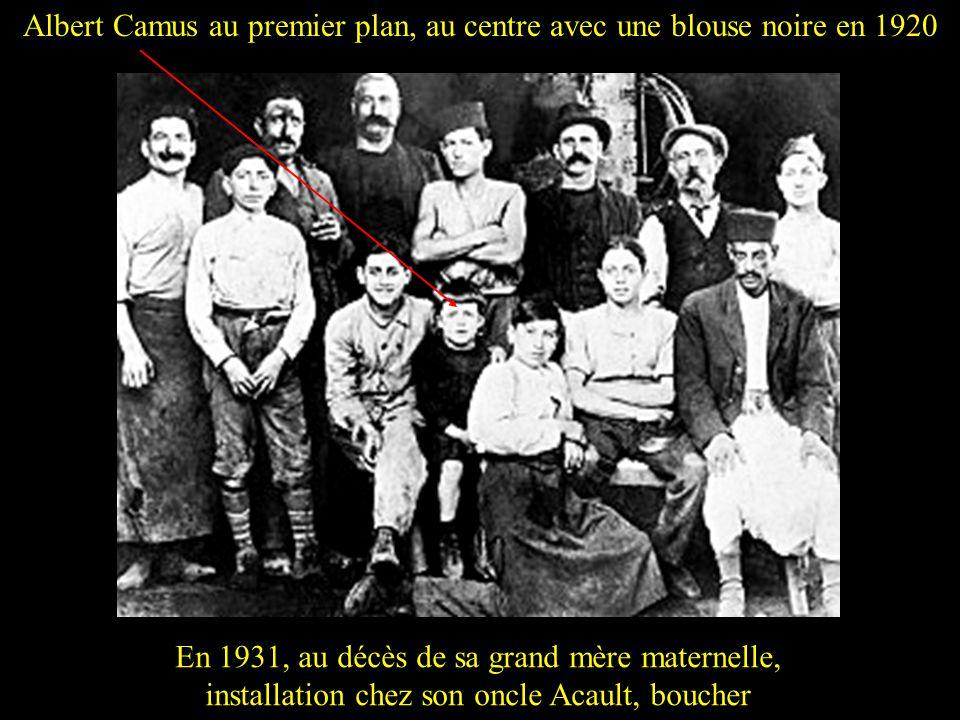 Jean Grenier 1930, Camus obtient la première partie du baccalauréat. Il entre en classe de philosophie avec pour professeur Jean Grenier philosophe et