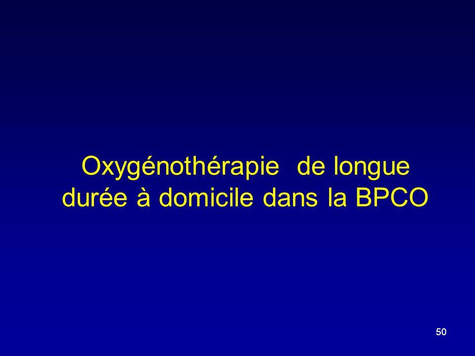 Oxygénothérapie de longue durée à domicile dans la BPCO 50
