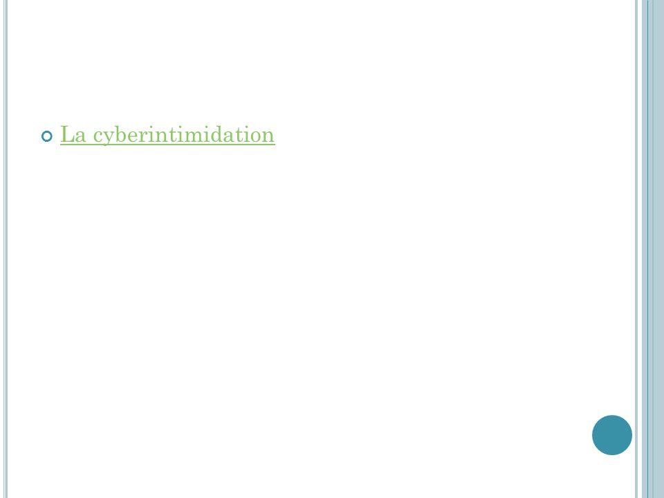 La cyberintimidation