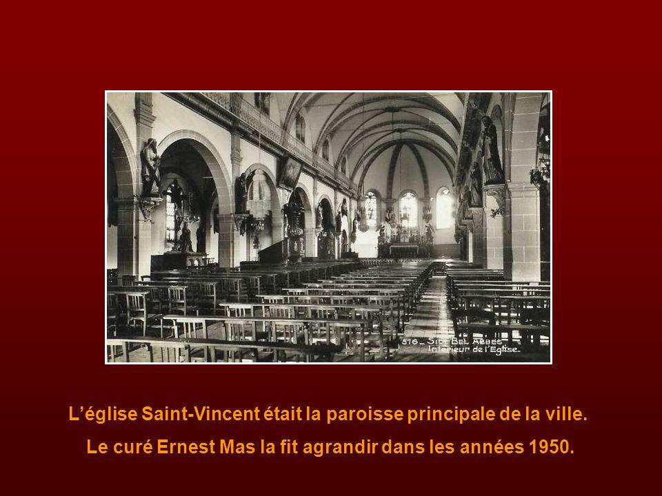 L'église Saint-Vincent était la paroisse principale de la ville.