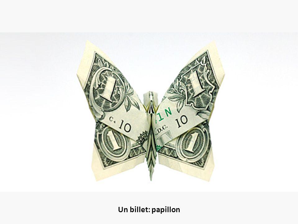 Un billet: papillon