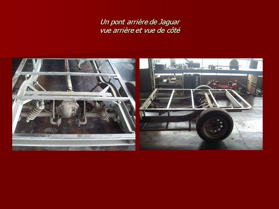 Un pont arrière de Jaguar vue arrière et vue de côté
