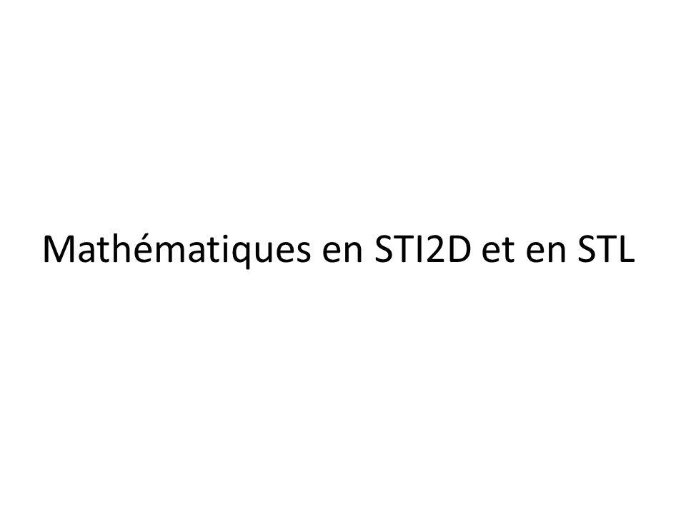 Mathématiques en STI2D et en STL