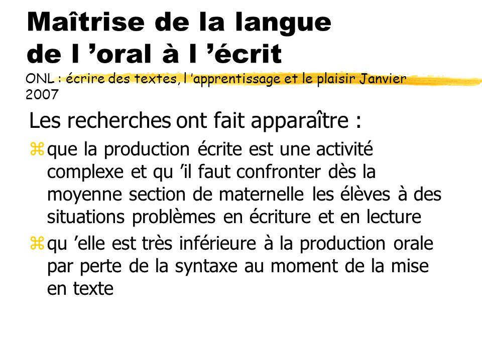 Maîtrise de la langue de l 'oral à l 'écrit Pour quelles raisons .