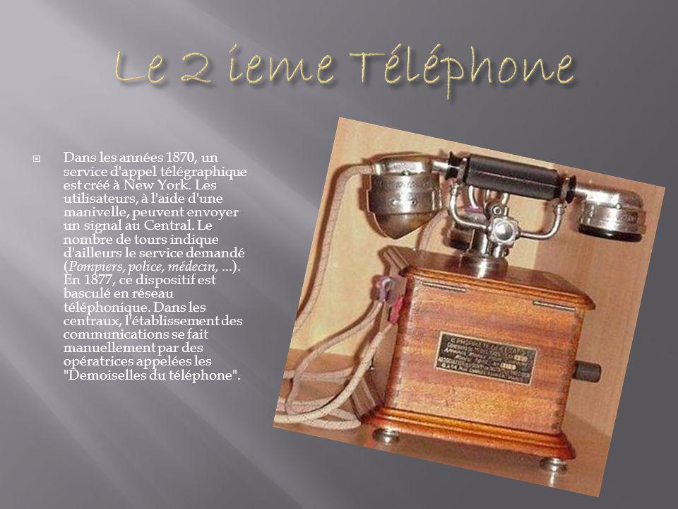  Dans les années 1870, un service d appel télégraphique est créé à New York.
