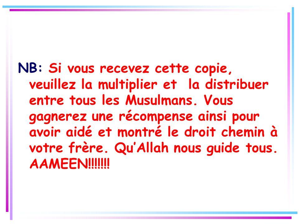 LES TROIS PUNITIONS LE JOUR DU JUGEMENT DERNIER 1.Allah envoie celui qui l'accompagnera aux enfers en le tirant sur le visage. 2.Allah lui donne un re