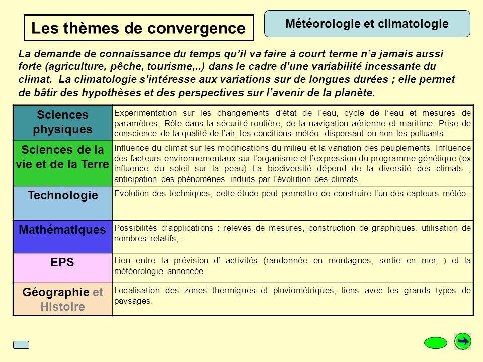 Météorologie et climatologie Sciences physiques Expérimentation sur les changements d'état de l'eau, cycle de l'eau et mesures de paramètres.