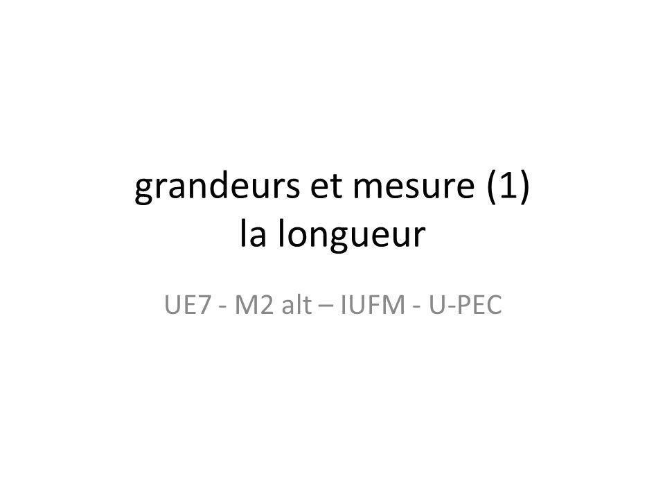grandeurs et mesure (1) la longueur UE7 - M2 alt – IUFM - U-PEC