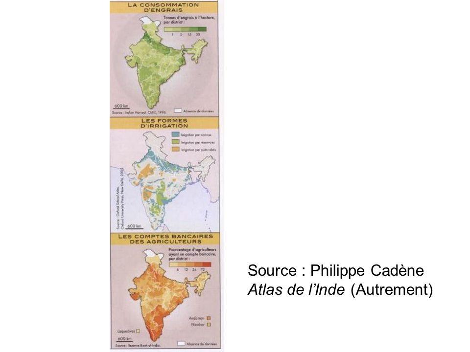 Source : Philippe Cadène Atlas de l'Inde (Autrement)