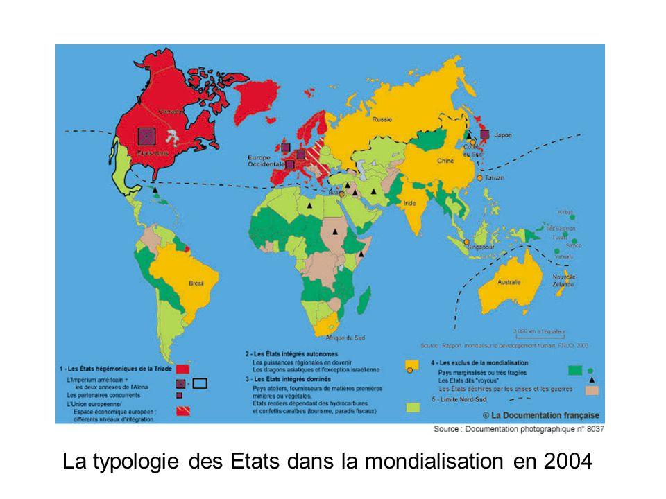 La typologie des Etats dans la mondialisation en 2004