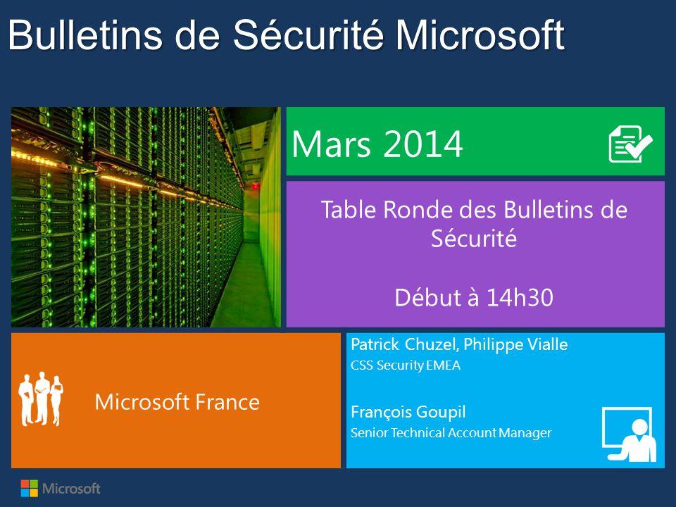 MBSA 2.3 •Microsoft Baseline Security Analyzer 2.3 est disponible sur le centre de téléchargement : http://www.microsoft.com/fr-fr/download/details.aspx?id=7558 •Cette version ajoute le support de Windows 8, Windows 8.1, Windows Server 2012 et Windows Server 2012 R2 •Cette version ne supporte plus Windows 2000