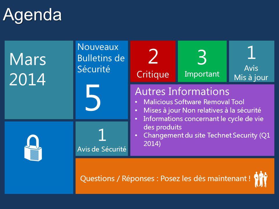 Microsoft Support Lifecycle Information concernant le cycle de vie des produits Pas de produits majeurs ce mois-ci Windows XP, Office 2003 et Exchange Server 2003 ne seront plus supportés après le 8 avril 2014  Plus aucun correctif de sécurité  Plus aucun support