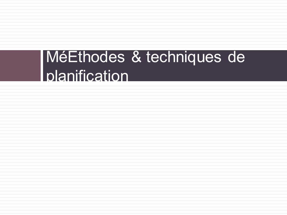 MéEthodes & techniques de planification