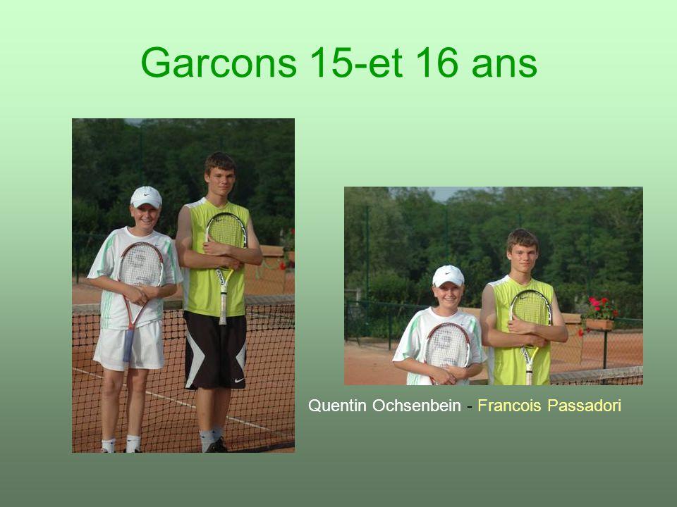 Garcons 15-et 16 ans Quentin Ochsenbein - Francois Passadori