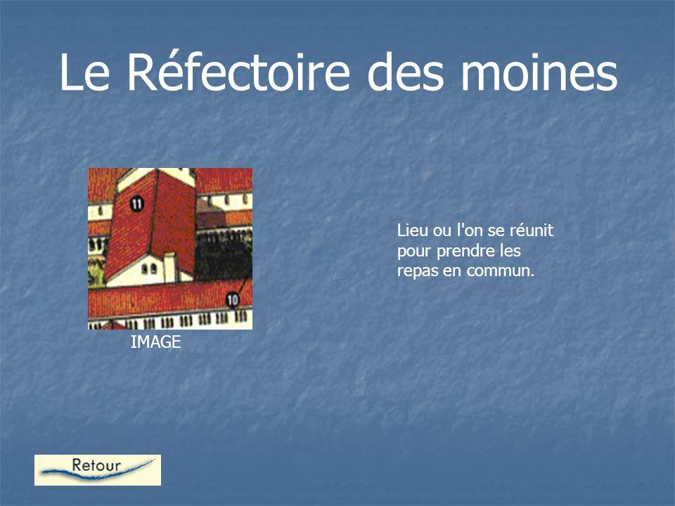 Le Réfectoire des moines Lieu ou l on se réunit pour prendre les repas en commun. IMAGE