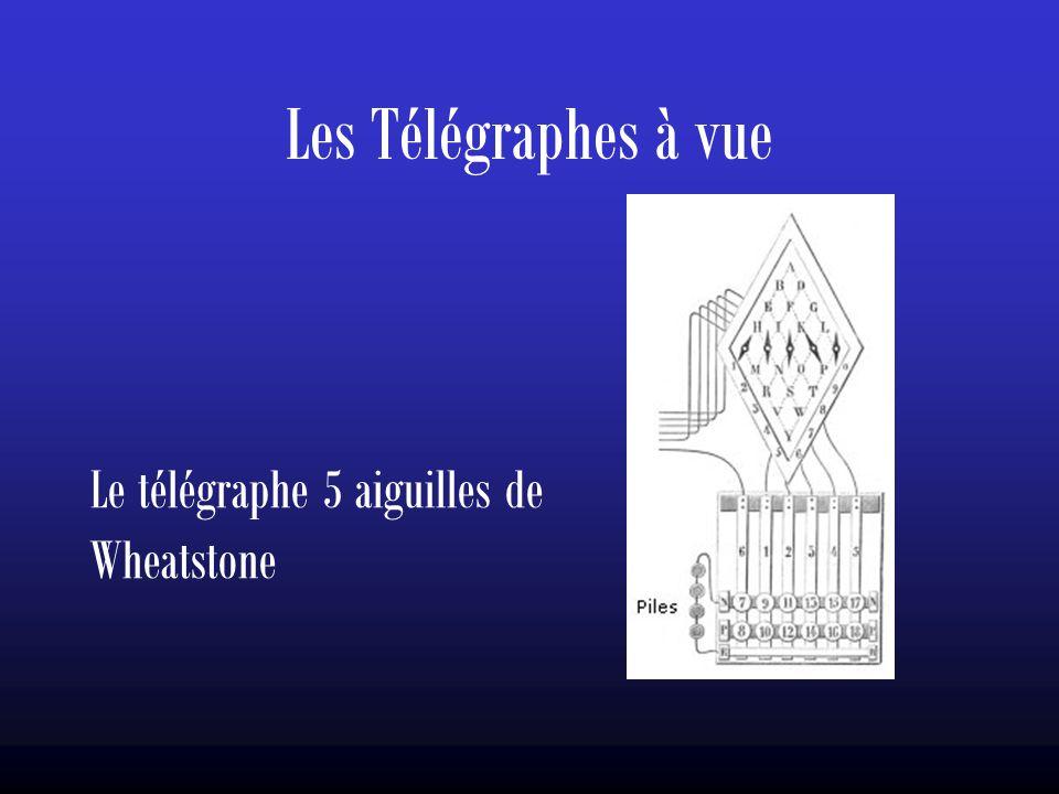 Les Télégraphes à vue Le télégraphe 5 aiguilles de Wheatstone