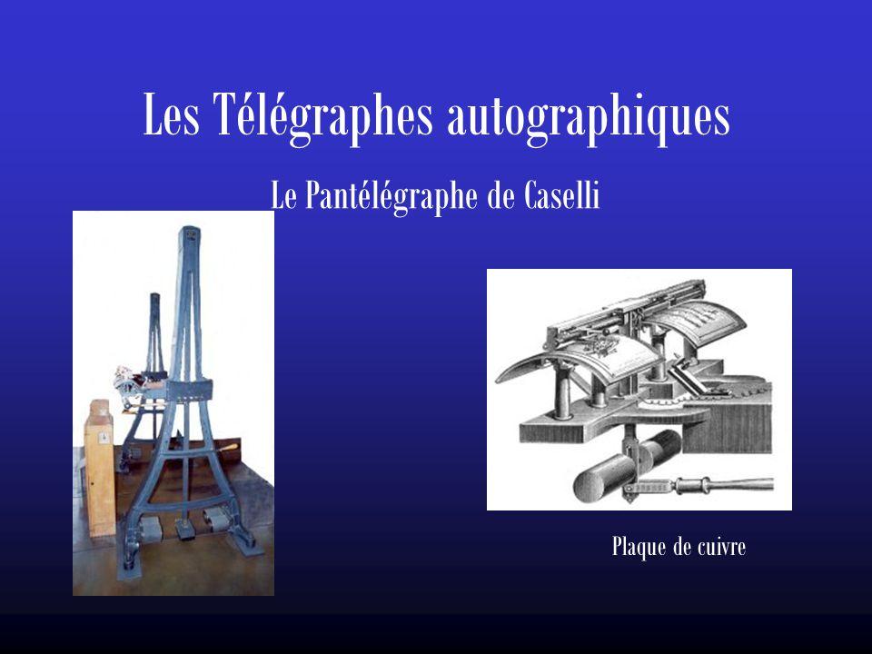 Les Télégraphes autographiques Le Pantélégraphe de Caselli Plaque de cuivre