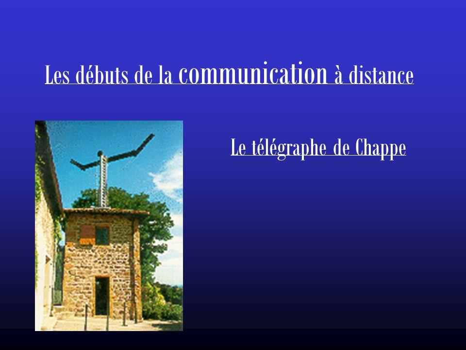 Les débuts de la communication à distance Le télégraphe de Chappe