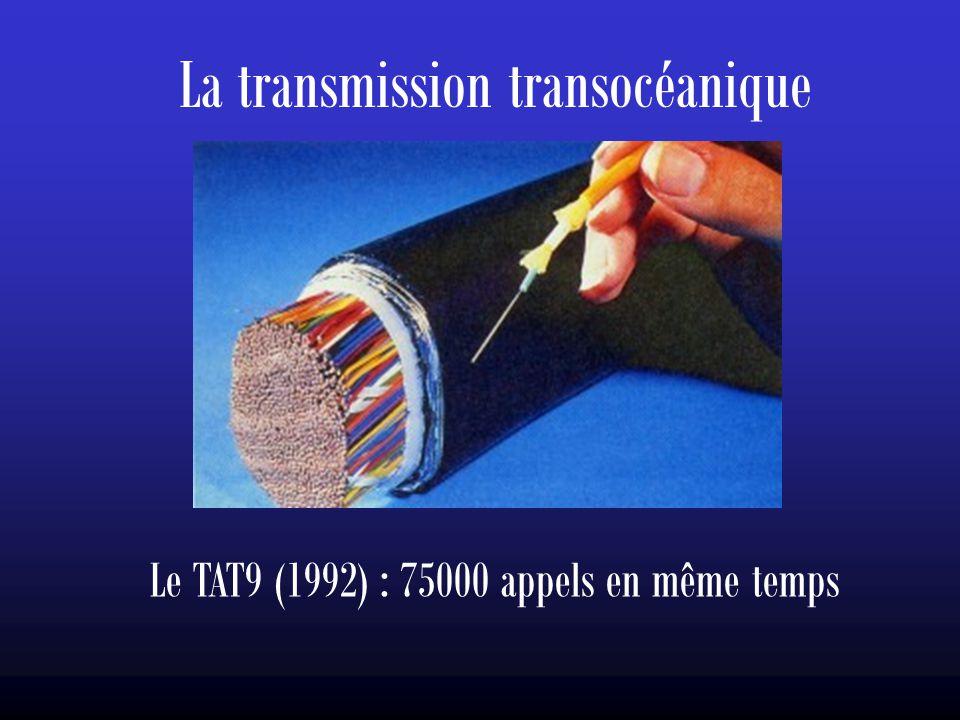 La transmission transocéanique Le TAT9 (1992) : 75000 appels en même temps