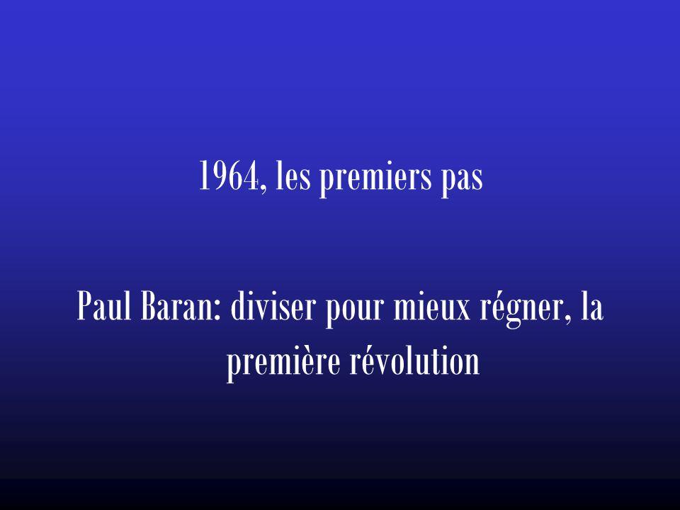 1964, les premiers pas Paul Baran: diviser pour mieux régner, la première révolution