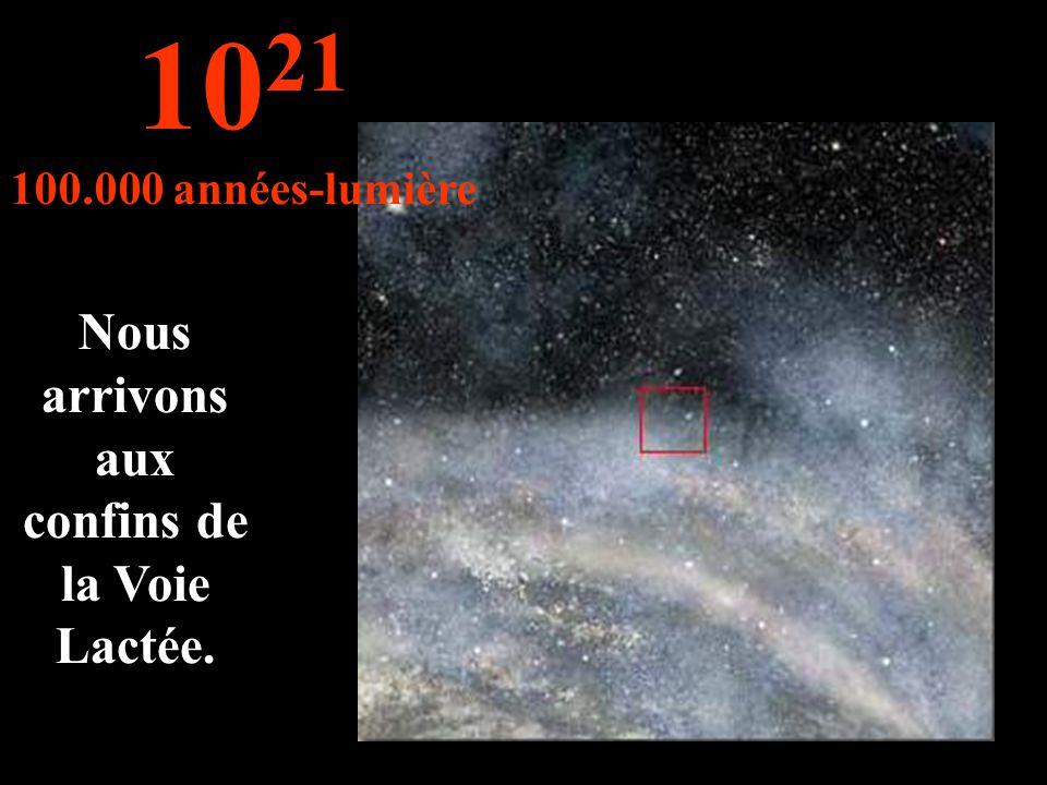 On continue notre voyage dans la Voie Lactée... 10 20 10.000 années-lumière