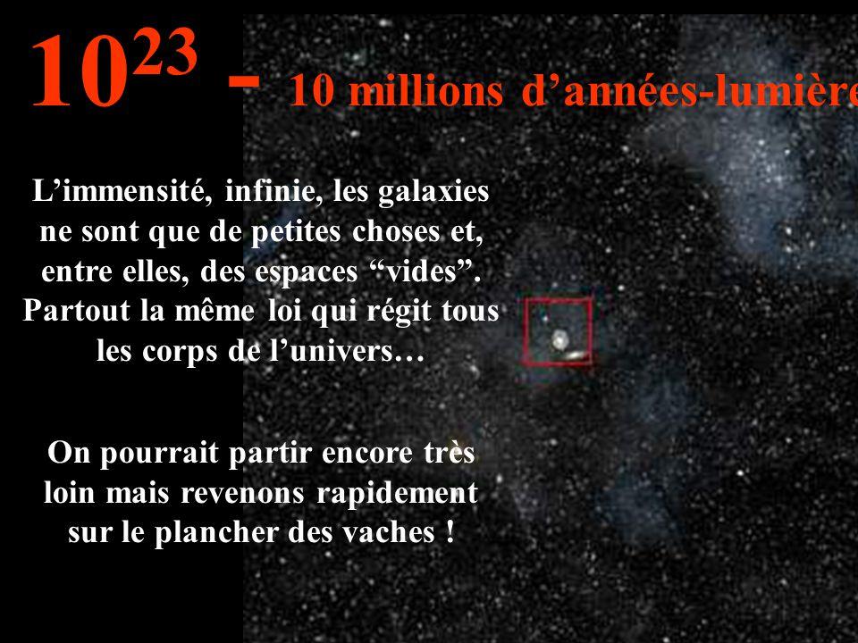 Notre galaxie et d'autres... 10 22 1 million d'années-lumière