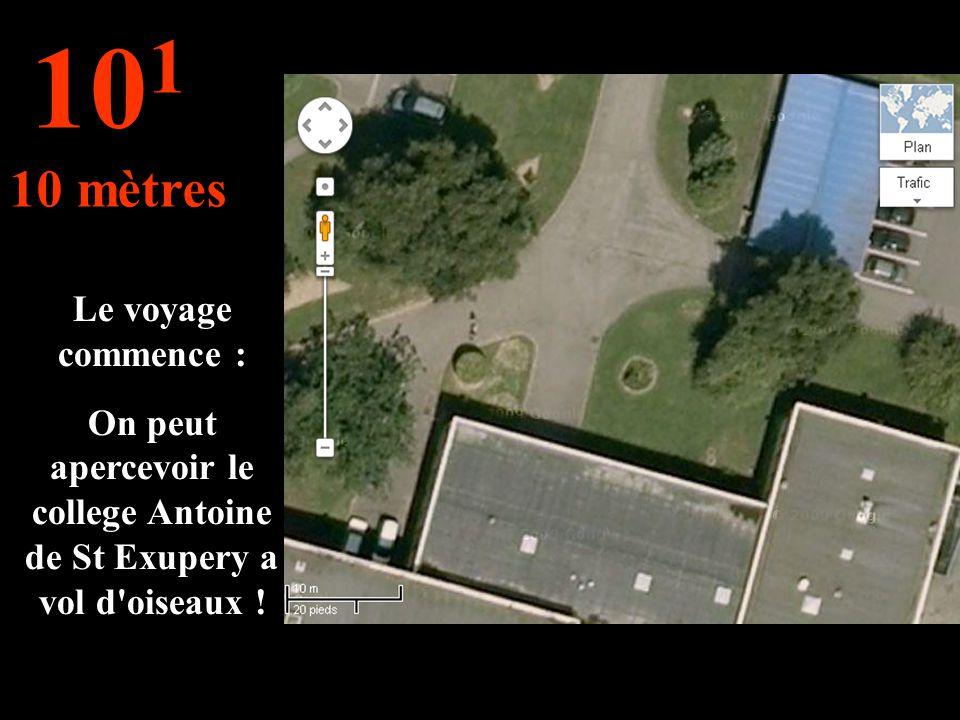C'est ce que nous voyons sous nos yeux : l entrer de notre College Antoine de Saint Exupery 10 0 1 mètre
