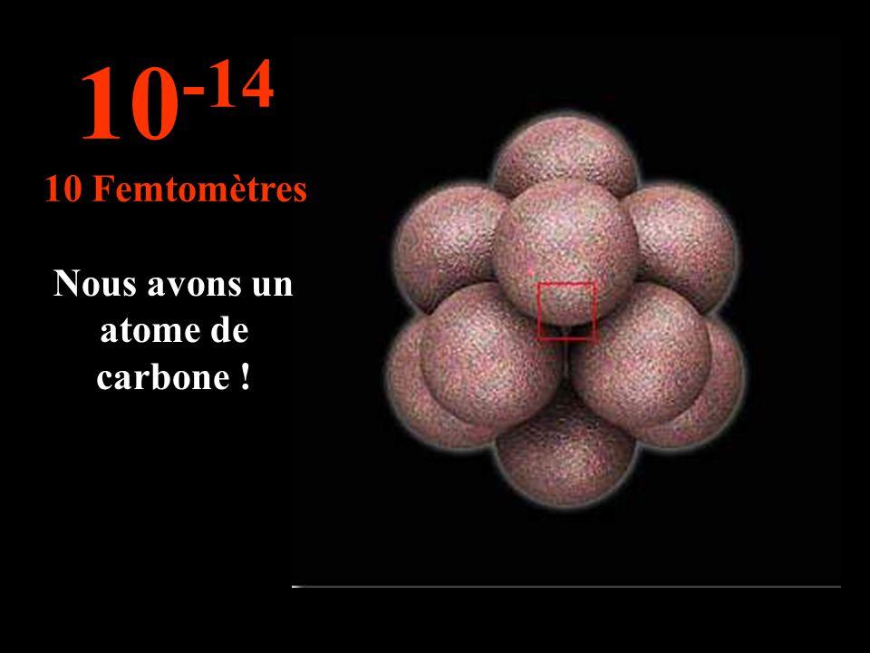 Cette mesure s'applique pour la taille des noyaux d'un atome. 10 -13 100 Femtomètre