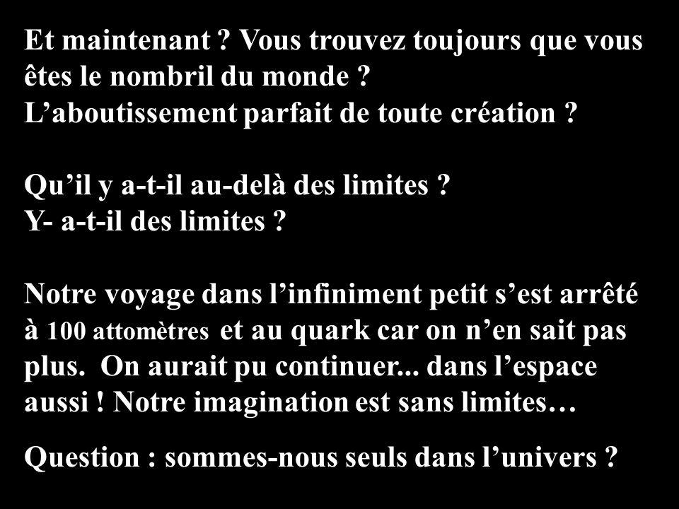 Examinons les particules de quark… Et arrêtons-nous : nous avons atteint les limites des connaissances de la science ! 10 -16 100 Attomètres