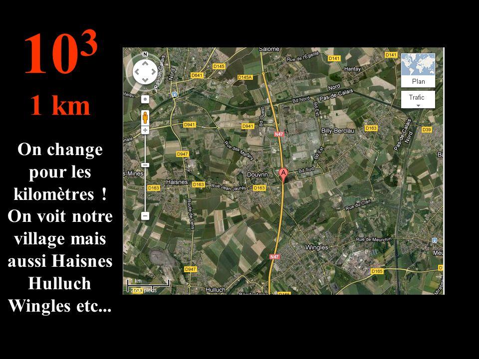 A cette distance, on peut voir le college de Douvrin avec sa ville mais aussi ses alentours ! 5X10 2 500 mètres