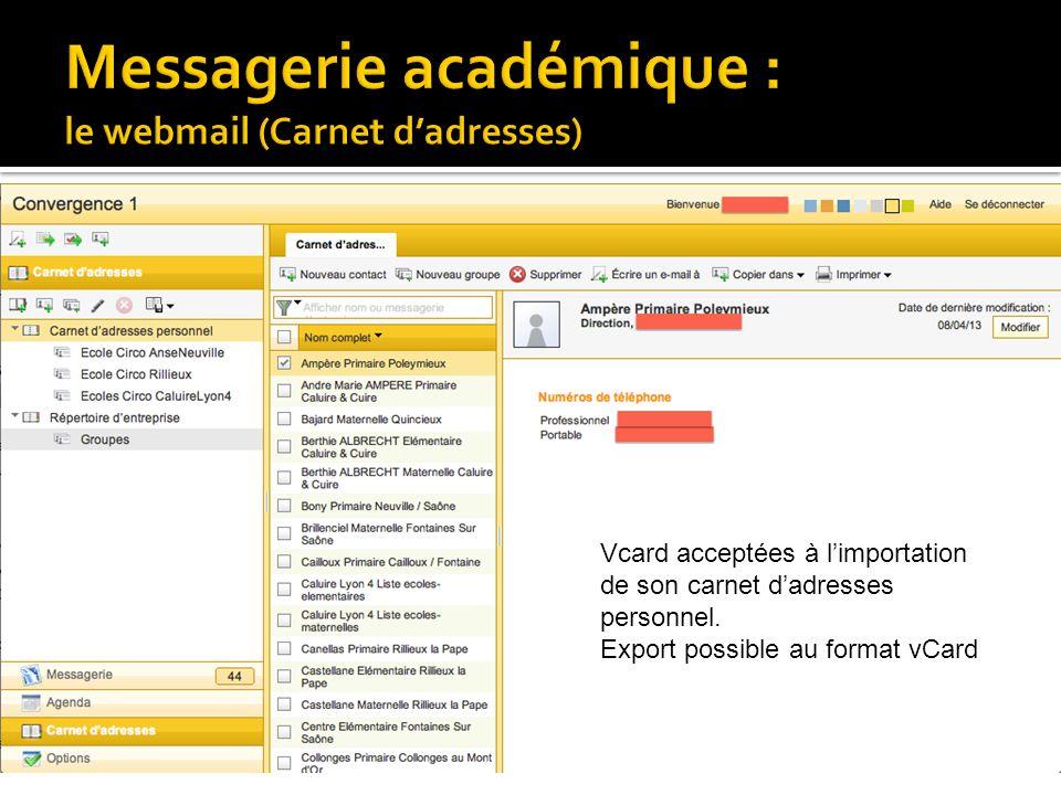 • Un seul compte pour la messagerie et I-Prof • Plateforme d'assistance : guichet unique (04 72 80 64 88) • Capacité de 20 Mo • Accès au LDAP en ligne (LDAP = annuaire des enseignants et des écoles) • Paramétrages possibles du compte de messagerie : • Personnalisation du mot de passe (vivement recommandé) • Redirection possible (décocher « Conserver une copie du message ») • Pour le logiciel de messagerie : • configurer le compte avec mail.ac-lyon.fr sur le port 995 avec connexion sécurisée SSL pour le serveur de courrier entrant (pop) • Sur notre site RDRI pas à pas de configuration (Thunderbird, Outlook, etc…)
