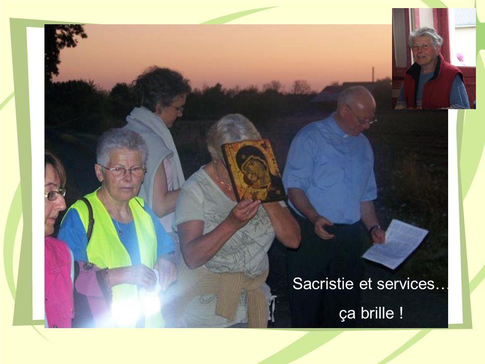 Sacristie et services… ça brille !