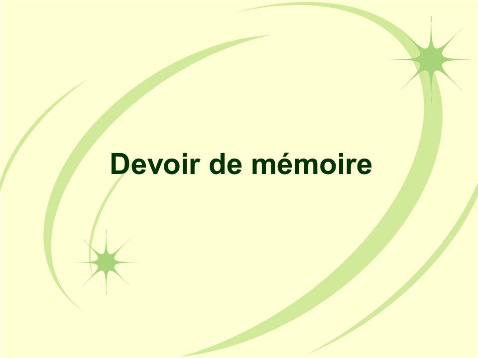 Devoir de mémoire