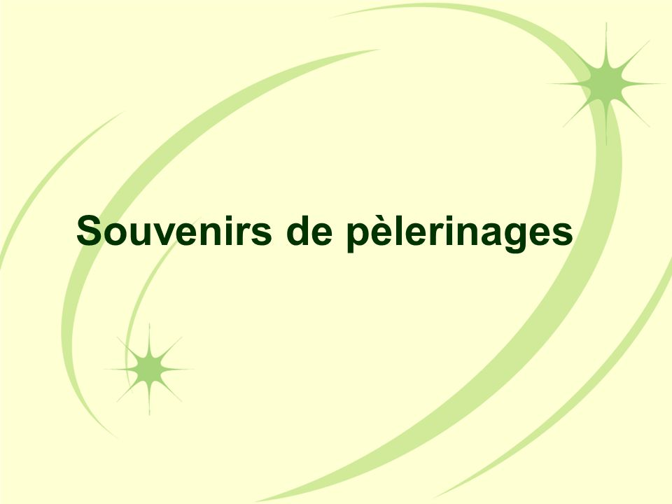 Souvenirs de pèlerinages