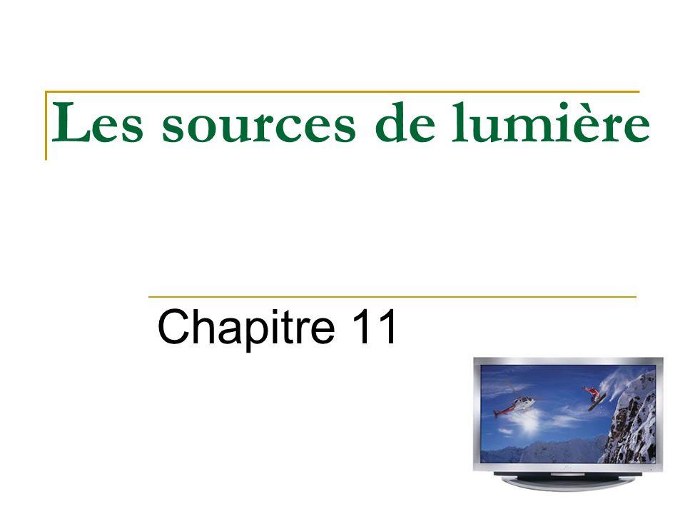 Les sources de lumière Chapitre 11