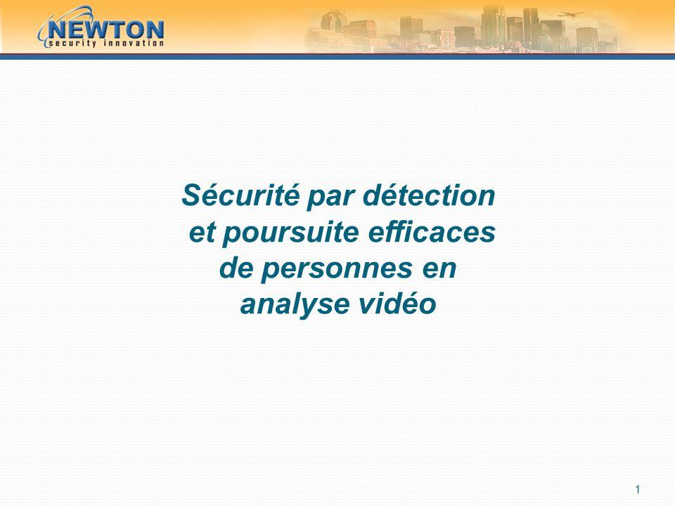 Sécurité par détection et poursuite efficaces de personnes en analyse vidéo 1