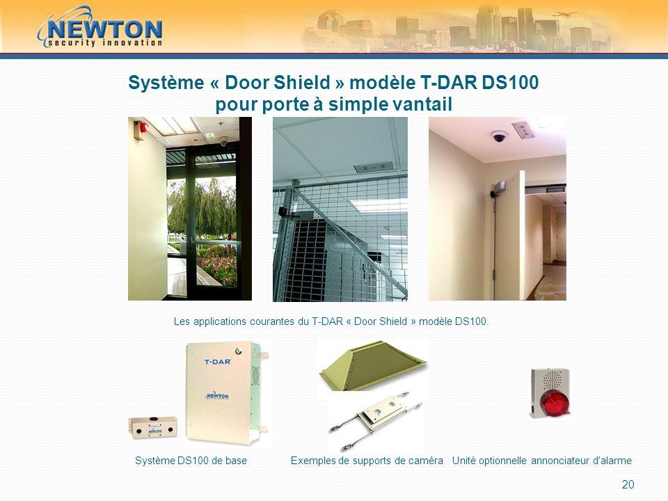 Système « Door Shield » modèle T-DAR DS100 pour porte à simple vantail 20 Les applications courantes du T-DAR « Door Shield » modèle DS100. Système DS