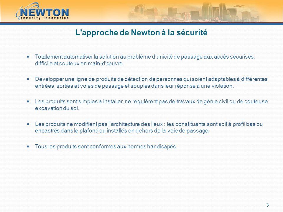 L approche de Newton à la sécurité  Totalement automatiser la solution au problème d'unicité de passage aux accès sécurisés, difficile et couteux en main-d'œuvre.