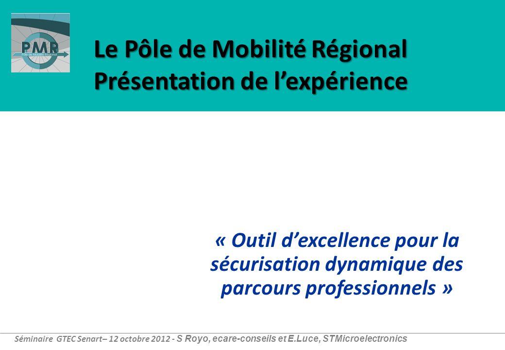 Le Pôle de Mobilité Régional Présentation de l'expérience « Outil d'excellence pour la sécurisation dynamique des parcours professionnels » Séminaire