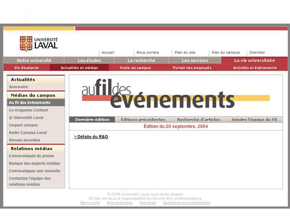 www.ulaval.ca 21 Les normes d'harmonisation