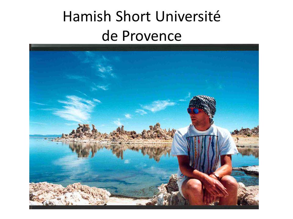 Hamish Short Université de Provence