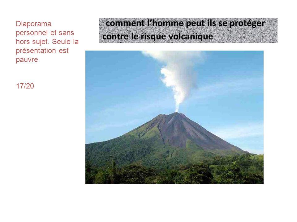 A-prevention • Pour le risque volcanique, la prévention passe avant tout par une étude approfondie de l histoire du volcan.