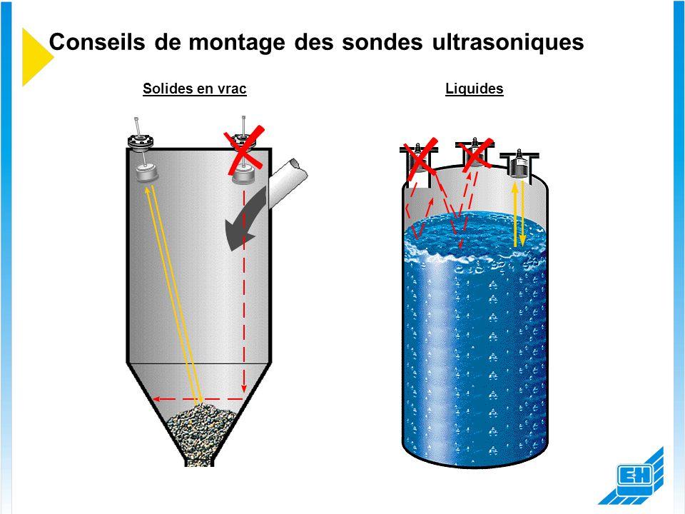 Conseils de montage des sondes ultrasoniques LiquidesSolides en vrac